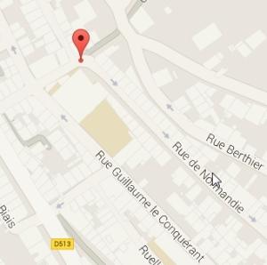 carte acces RUE Normandie
